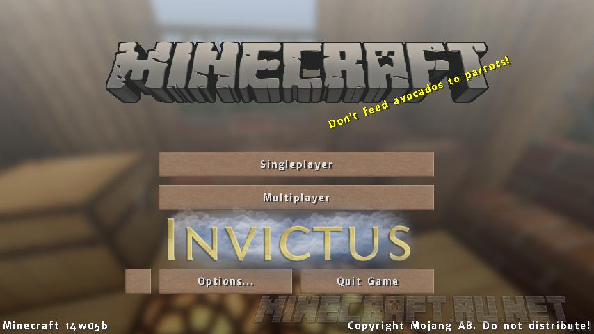Minecraft Soartex Invictus Vanilla/Shader