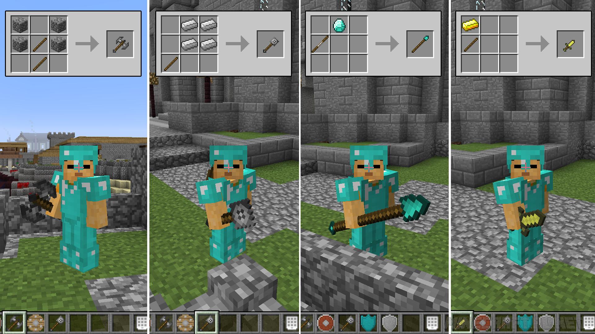 Mine Blade Battlegear 2 Bullseye V 1 0 10 1 1 8 Mods Mc Pc Net Minecraft Downloads