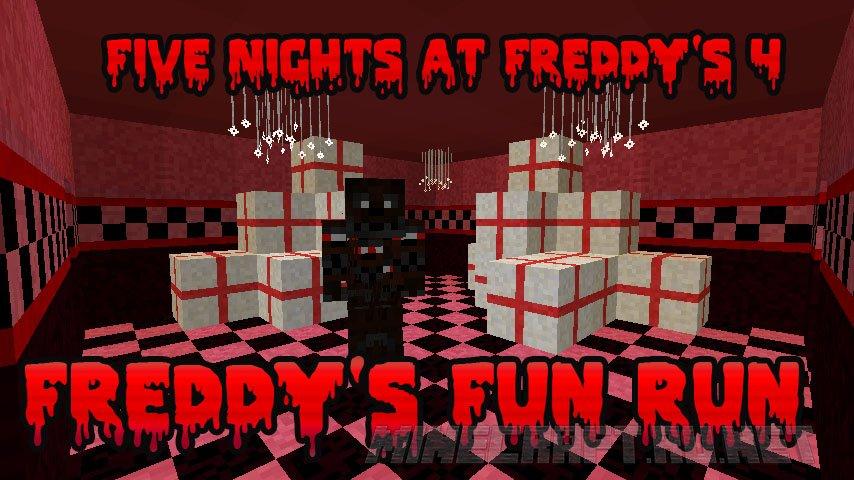 Minecraft Five Nightmares at Freddy's 4 - Freddy's Fun Run (FNAF4)