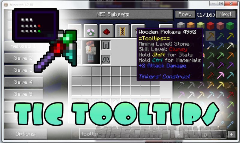 Minecraft TiC Tooltips