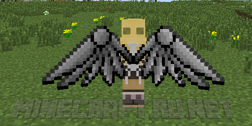 майнкрафт с крыльями 3д на версию 0.14.1