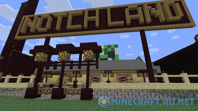 Minecraft Notchland Amusement Park