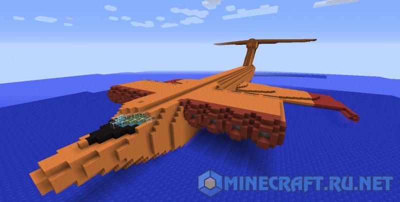 Minecraft Экраноплан Спасатель