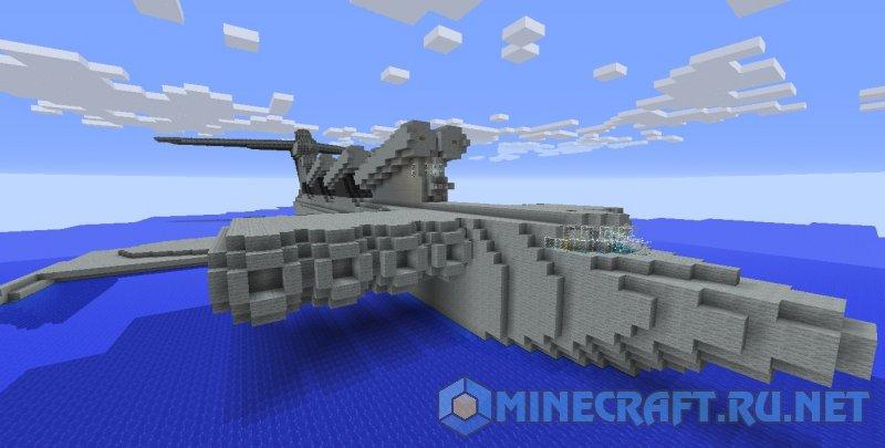 Minecraft Лунь экраноплан
