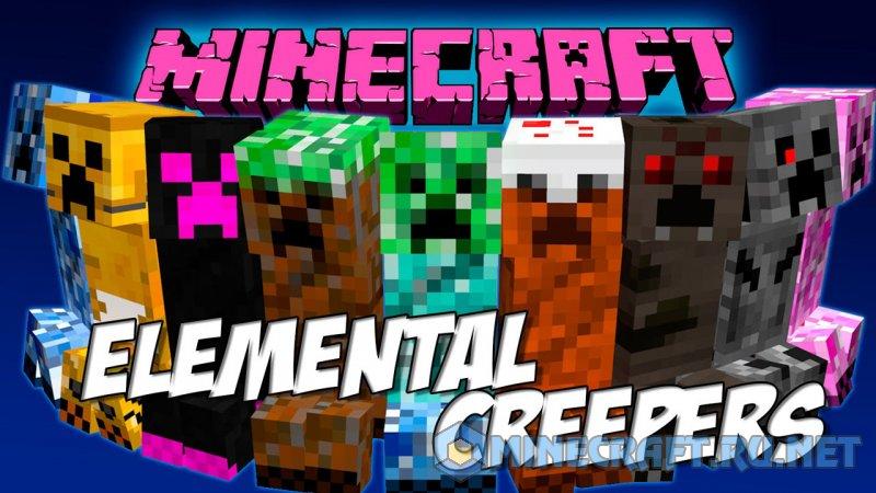 Minecraft Elemental Creepers Redux