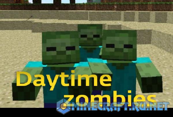 Minecraft Daytime zombies