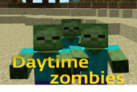 Daytime zombies - Mods